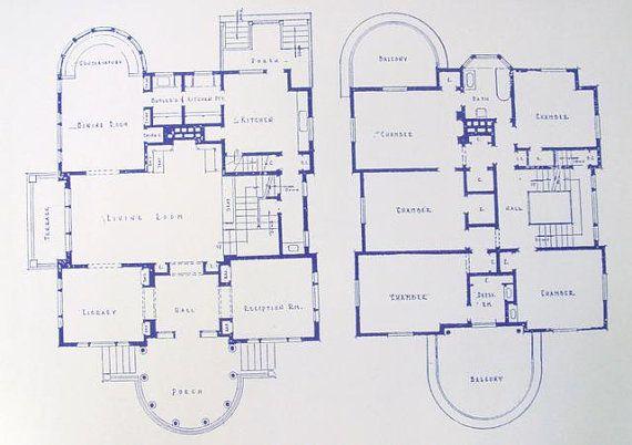 George Blossom House Building Blueprints 4858 S Kenwood Ave