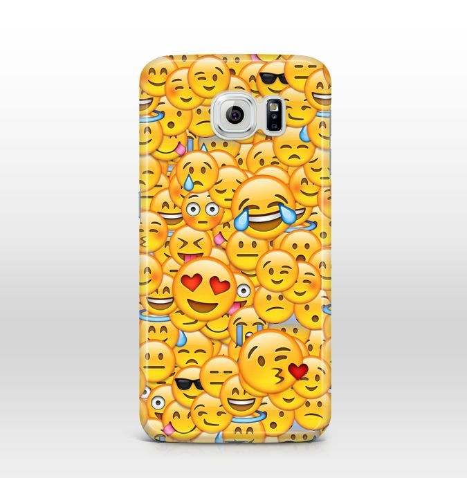 Fun Emoji Emoticon Pattern Case Cover For Samsung Galaxy S4 S5 S6 Edge Google Iphone 6 Fundas Iphone