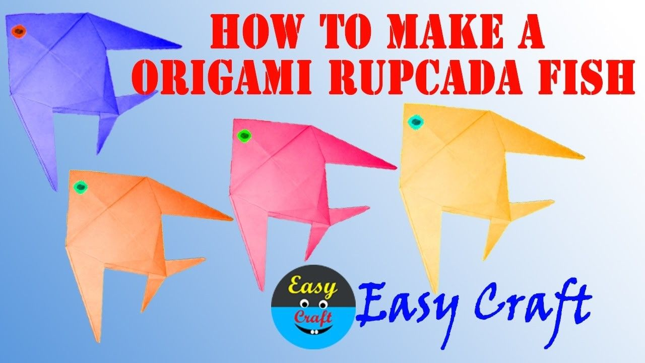 How to make a origami rupcada fish how to make a simple how to make a origami rupcada fish how to make a simple origami paper fish step by step video jeuxipadfo Images