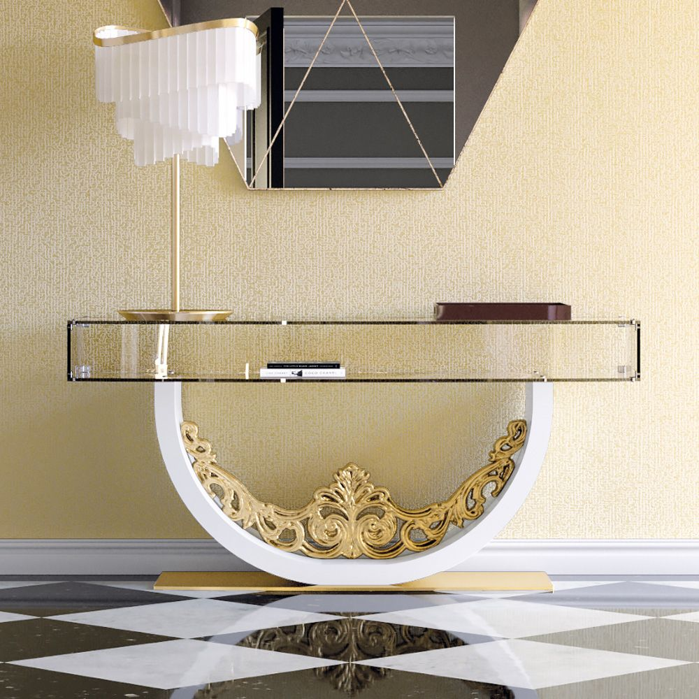 Luxury Contemporary Glass Console Table discover unique luxury