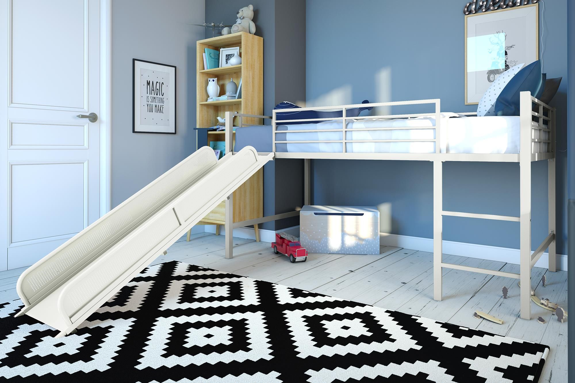 DHP Junior Loft with Slide, Multiple Colors Available