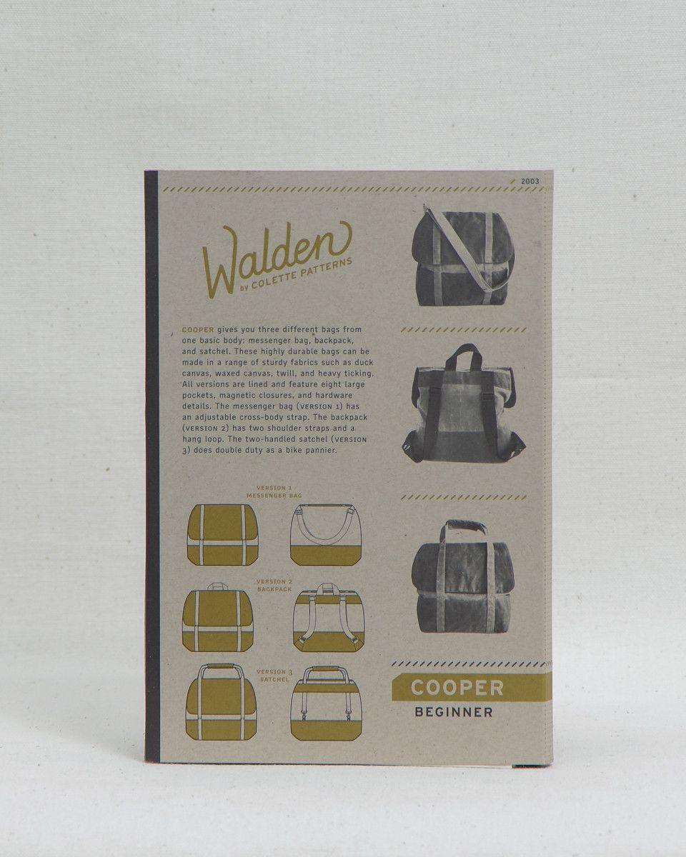 Walden by Colette Patterns - Cooper Bag
