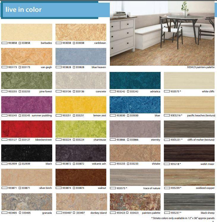 Forbo Marmoleum Click Cinch Loc Tile Flooring Natural