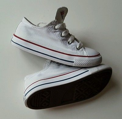 45d1a2db49c826 Converse All Star Dainty Optical White Unisex Low Trainers Size Infant UK 9