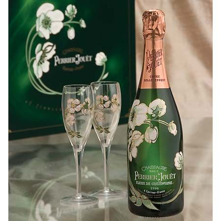 Perrier-Jouet Champagne's Belle Epoque Gift set: I got this for my brother-in-law's wedding toast. So romantic, almost makes me want to get married ...