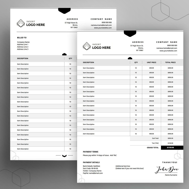 Editable Order Form Template 8 5x11 A4 Printable Order Form Etsy In 2021 Order Form Template Invoice Template Printable Invoice