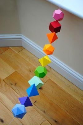 i mathematics platonic solids garland platonic solid