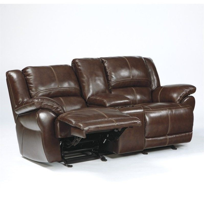 Lowest Price Online On All Ashley Furniture Lenoris Leather Power Reclining Loveseat In Coffee U9890191 Love Seat Ashley Furniture Power Reclining Loveseat
