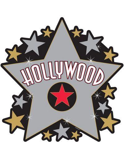 Big Hollywood Star Cutout Party City Fiesta De Hollywood Decoraciones De Hollywood Estrellas De Hollywood