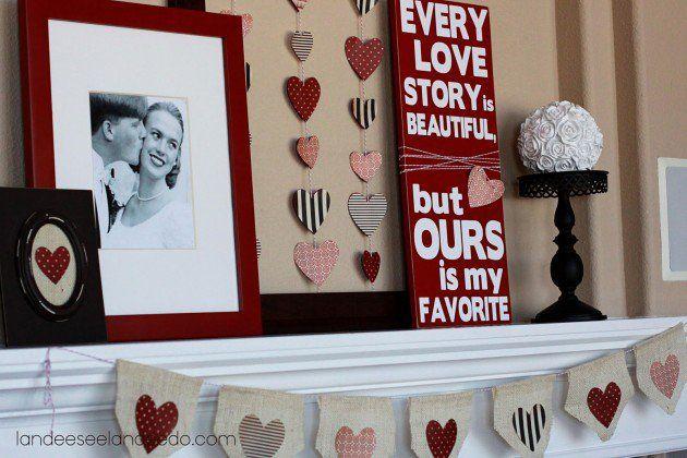 Los más grandes 30 Ideas de decoración DIY para el Día de San Valentín inolvidable