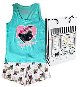 Special offer at www.ilovepugs.co.uk for pug lovers <3 Ladies pug pjs & gift bag