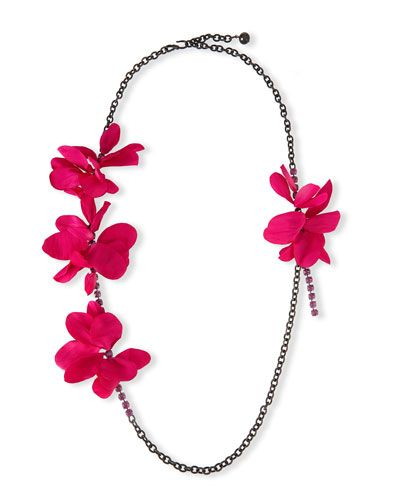 Vacation Shop Designer Collections At Bergdorf Goodman Crystal Chain Flower Necklace Necklace