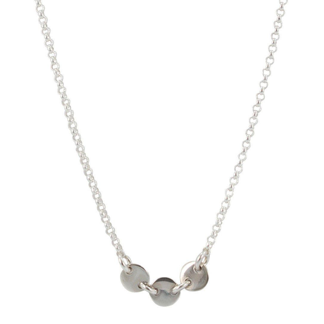 As seen on Law & Order: SVU, Three Circle Link Necklace in Sterling Silver, #6485-ss