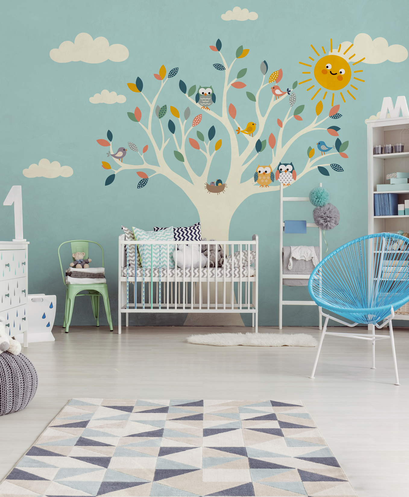 """Love in Sherwood"" baby design wallpaper, baby interior"