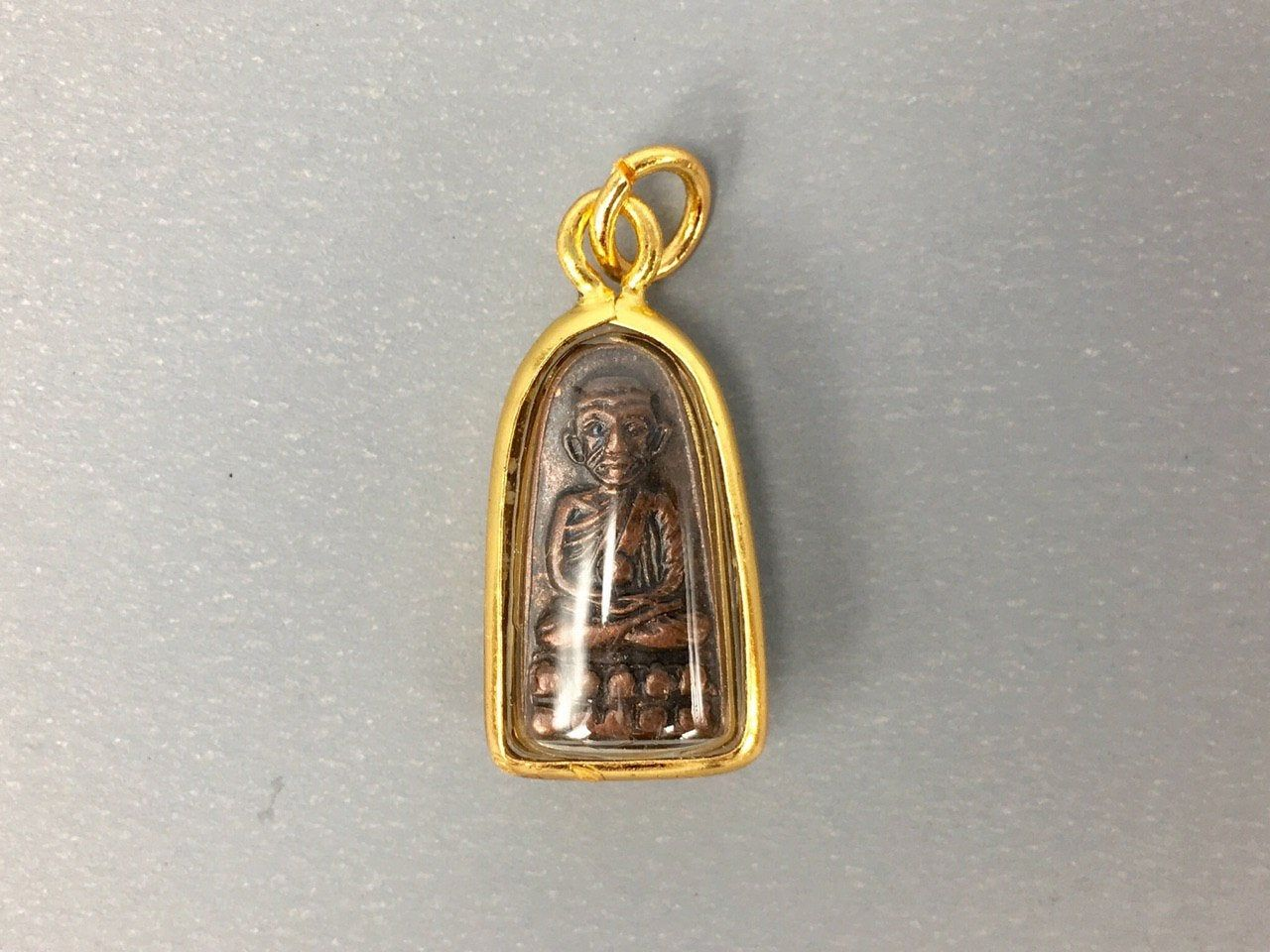 Buddhist LP Thuad Monk Pendant Thai Amulet Magic Power Protection Lucky Talisman