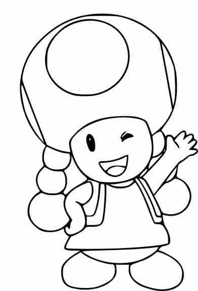 Toad And Toadette Coloring Page Coloring Pages Super Mario Coloring Pages Mario Coloring Pages