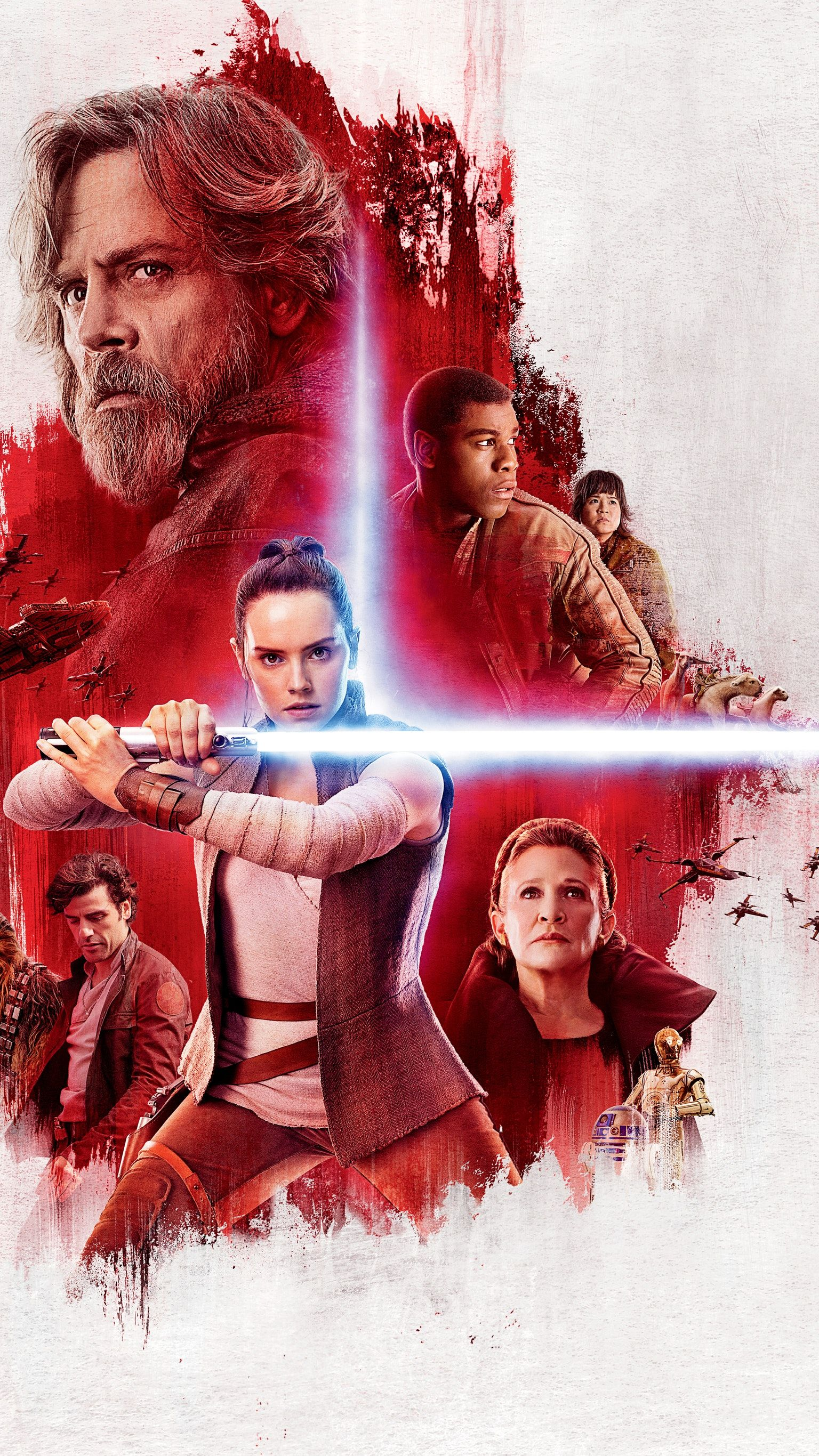 Star Wars The Last Jedi 2017 Phone Wallpaper Moviemania Star Wars Wallpaper Star Wars Poster Star Wars Film