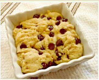 Deep dish single serving chocolate chip cookie