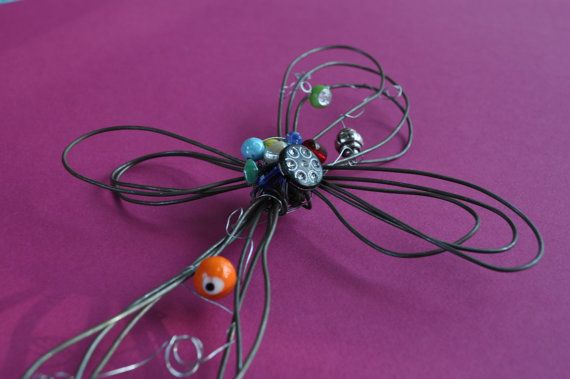 Baling wire cross with unique glass and metal by sonyalawlessbower, $25.00