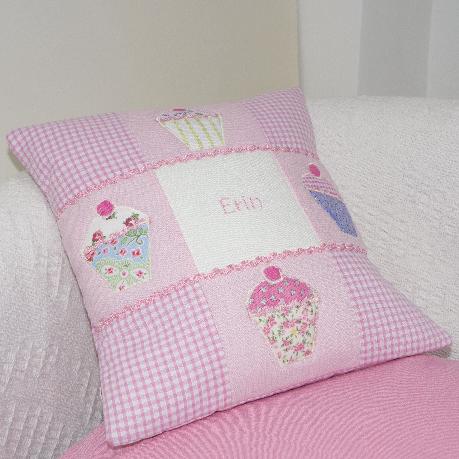 Embroidery pillow Gift for little girl New baby girl gift