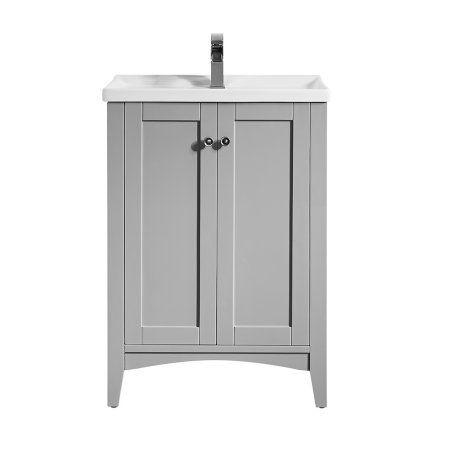Asti inch vanity in grey with white drop ceramic countertop without mirror gray also rh pinterest