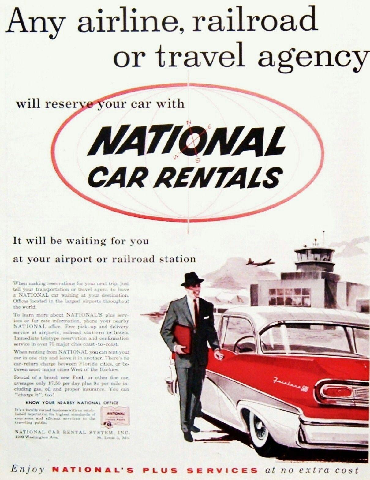 National Car Rentals 1958 Enterprise National Alamo In 2019