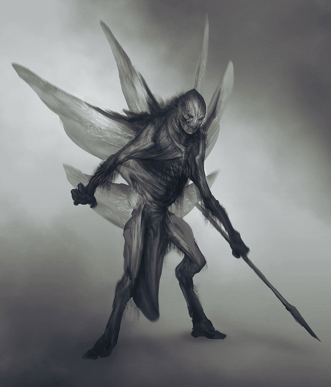 Dark Elf Concept from God of War #illustration #artwork #gaming #videogames  #gamer | Alieno, Demoni, Insetti