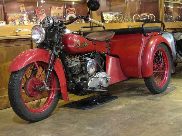1939 Indian Dispatch Tow from @mcmuseum #IndianMotorcycles #VintageMotorcycles