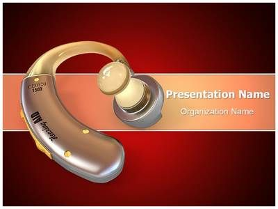 Hearing Aid PowerPoint Presentation Template is one of the best - sample medical powerpoint template