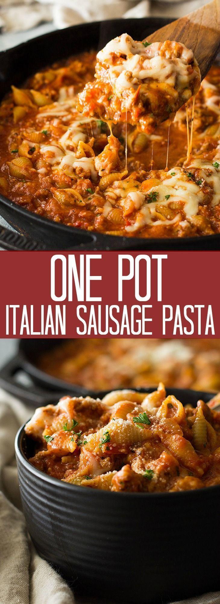 Diese italienische Wurstnudel mit einem Topf ist eine einfache 30-minütige Mahlzeit. Es wird mit ...   - Pasta Recipes    #30minütige #diese #eine #einem #Einfache #ist #italienische #Mahlzeit #mit #Pasta #Recipes #Topf #wird #Wurstnudel #sausagedinner