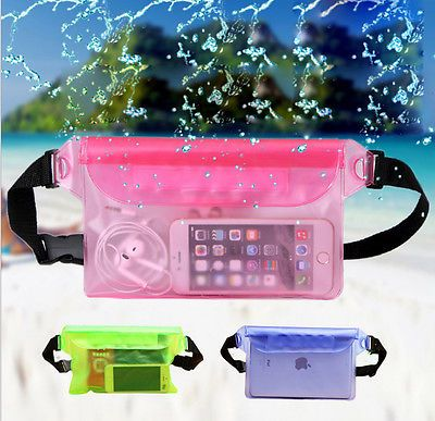 2651e38448cc61 Rainproof Waterproof Underwater Bag Swim Beach Dry Pouch Fanny Pack Waist  bag