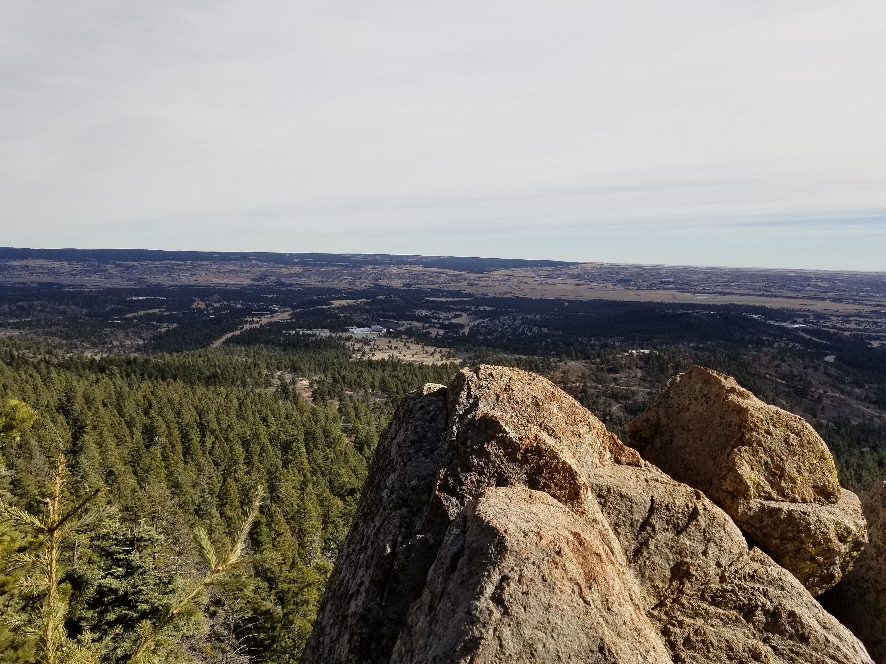 Looking down from Stanley Canyon near the Air Force