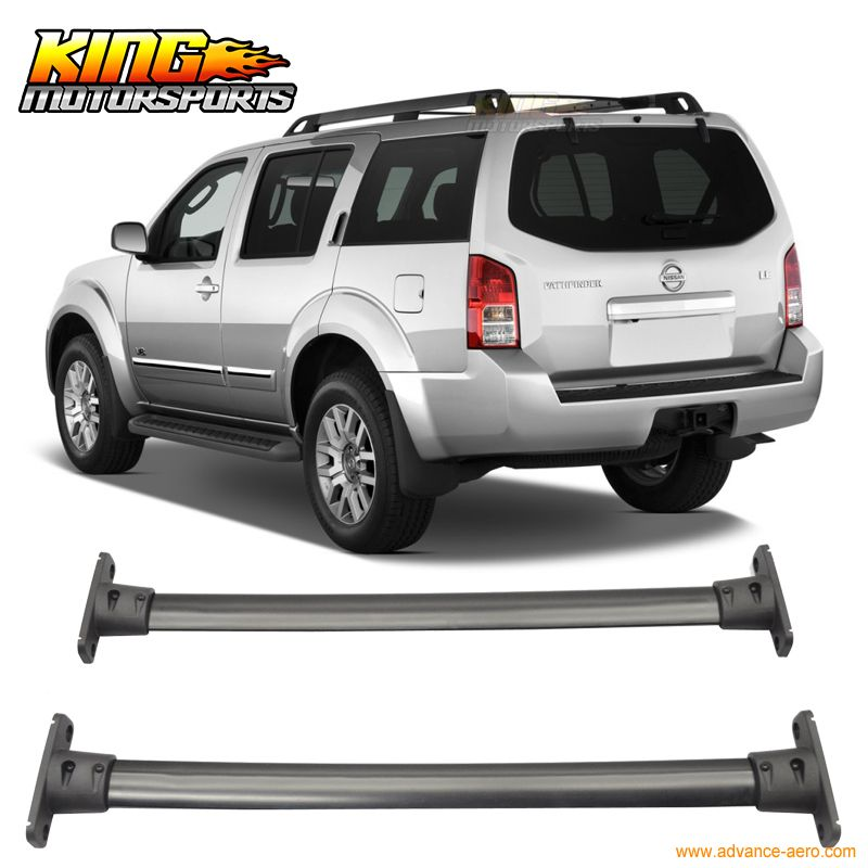 For 05 12 Nissan Pathfinder Cross Bar Roof Rack Black Cap Set Nissan Pathfinder Pathfinder Roof Rack