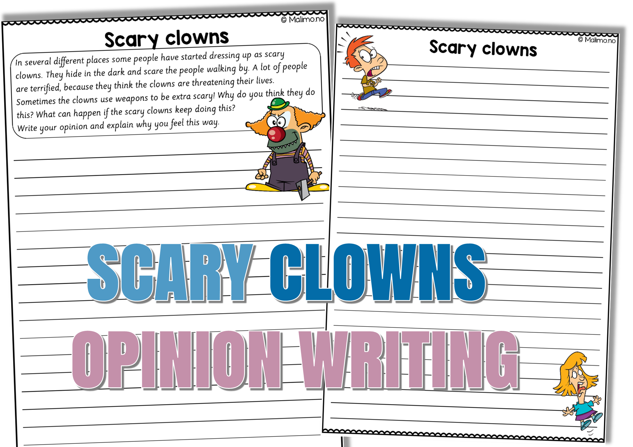 Scary Clowns Opinion Writing