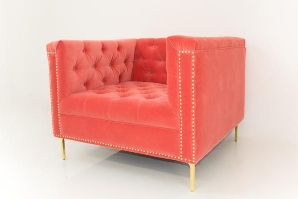 Outstanding Hollywood Chair In Coral Velvet Modshop Game Room Short Links Chair Design For Home Short Linksinfo