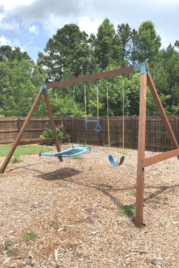 Diy Swing Set How To Easily Build Your Own Swing Set Diy Backyard Swing Sets Diy Swing