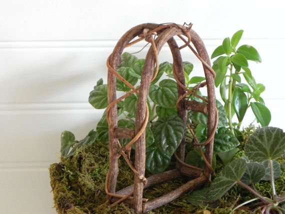 Merveilleux Fairy Garden Arbor Miniature Woodland By Thelittlehedgerow On Etsy