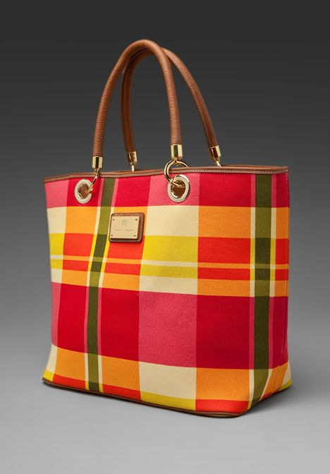 869bfd269dbdc3 Trina Turk Bonnie Plaid Tote - not normally a plaid purse kind of person,  but I love this, love the happy colors!