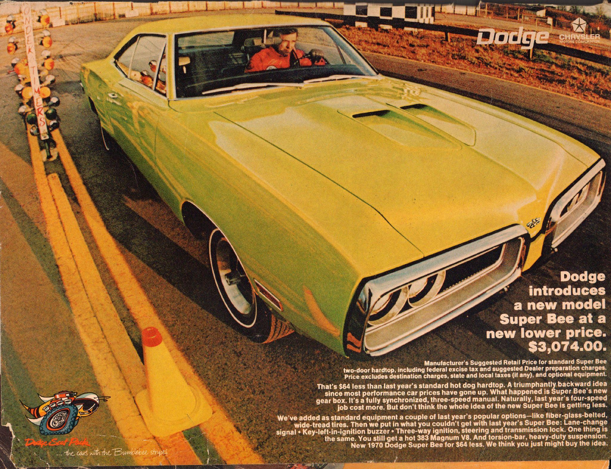 1970 dodge super bee advertisement hot rod magazine may