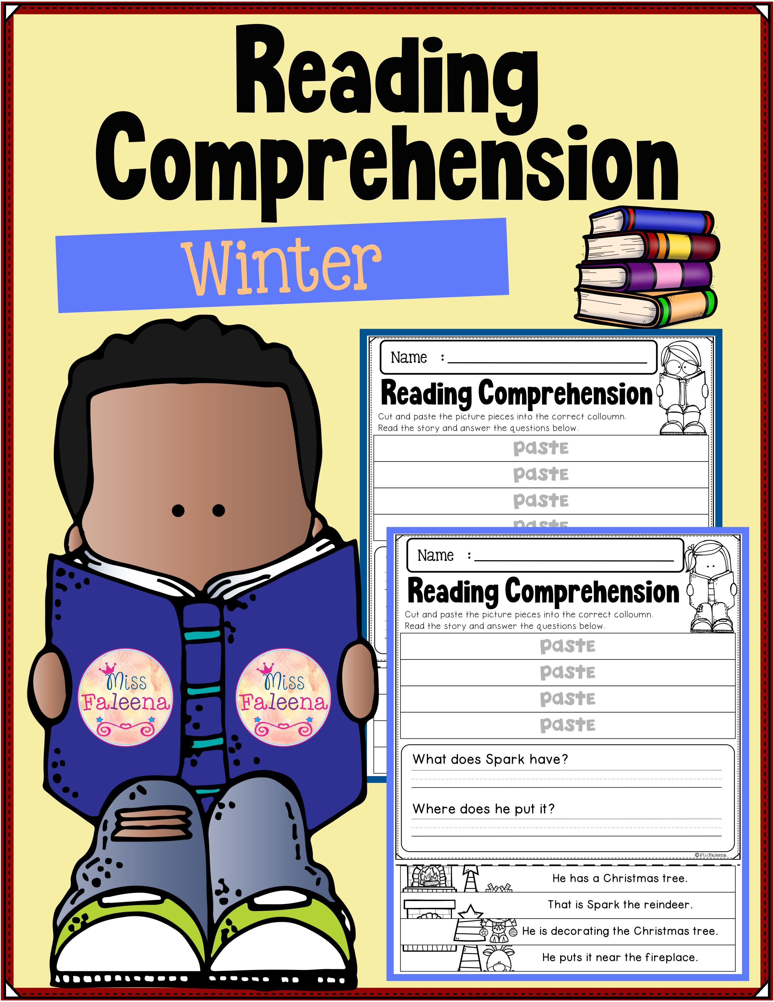 Winter Reading Comprehension Puzzles