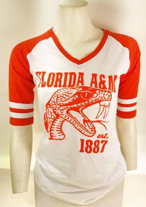 d5e7f380814 Retro Florida A M College FAMU Rattlers Black Green Orange Ladies Shirt by  SkyRocketDealz on Etsy