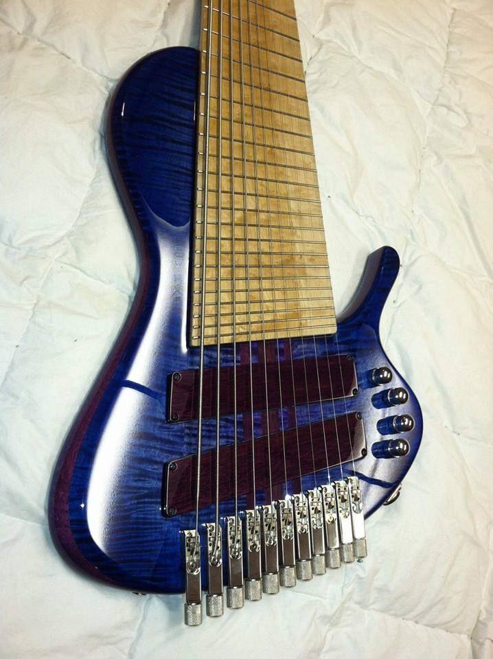 Prat In Blue Bass Guitar Guitar Custom Bass Guitar