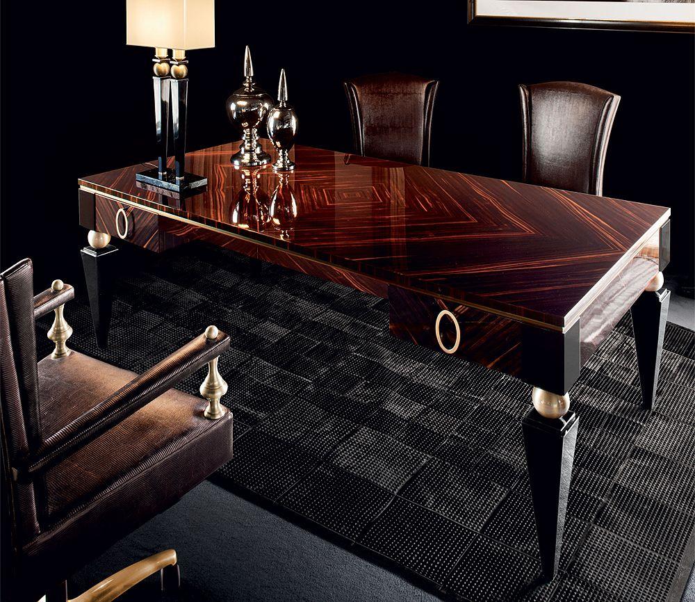 MACASSAR EBONY NEOCLASSICAL DESKS KP500 | Taylor Llorente Furniture