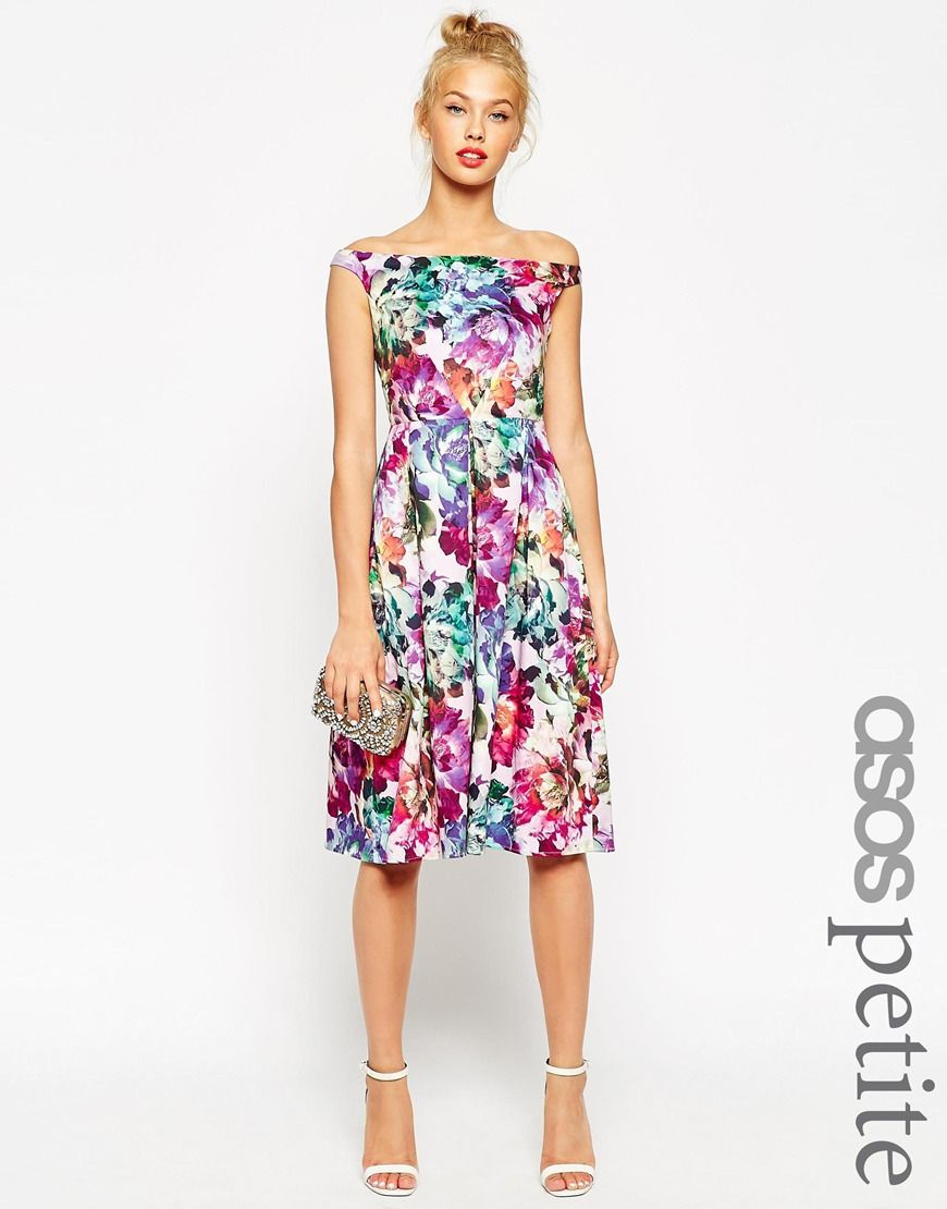 size asos petite beautiful floral midi prom dress dress