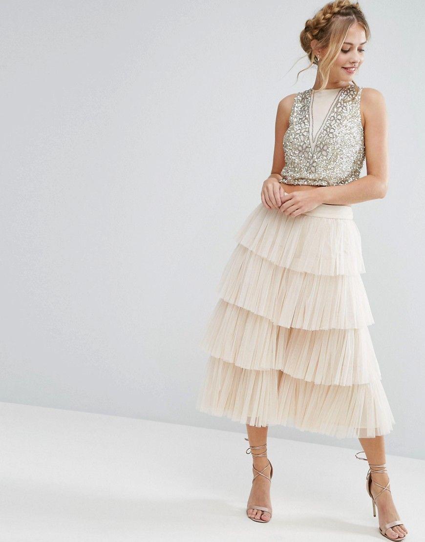 fd73137d00d Asos Stripe Lace Crop Top Midi Dress - raveitsafe
