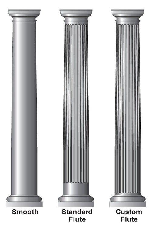 12 Round Tapered Architectural Porch Column Interior And Exterior Use Tuscan Design Pillar Design Interior Columns