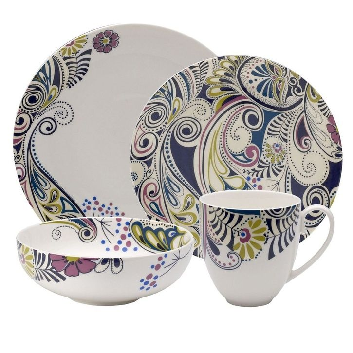 Denby Monsoon Cosmic 16 Piece Dinner Set Dinner Set Ideas