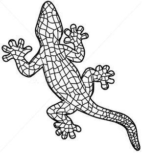 Resultado De Imagen Para Dibujos Gaudi Para Colorear Mosaico De Gaudi Arte De Jardin En Mosaico Obras De Arte Con Mosaicos