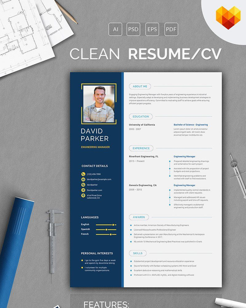 David parker engineering manager resume template 66456