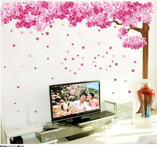 Cherry Blossoms Pink Tree Murals Big Home Sticker Flowers Bedroom - Portal 2 wall decalsbest wall decals images on pinterest